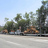 09/02 Dozers staged on New York Drive and Altadena.  There were also two crew trucks parked at the Pinecrest Gate to the Toll Road.
