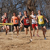 Chris Derrick (Stanford Univ.) and Luke Puskedra (U. Oregon) lead the pack.<br /> Photo by Tom Brennan