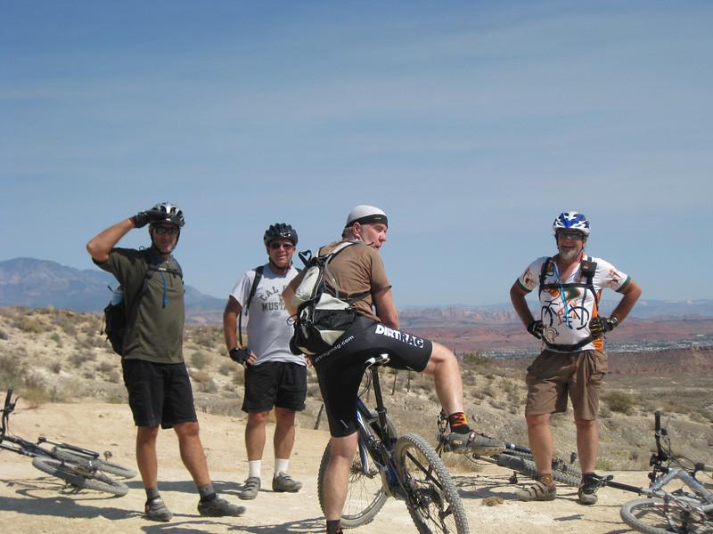 Group shot at the top of Stucki Springs