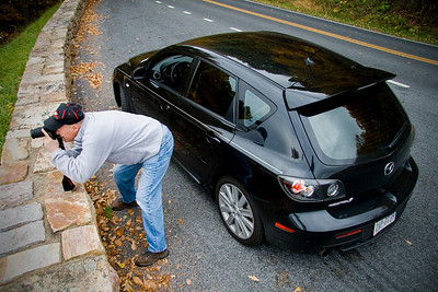 Dad takes a different vantage point for his dead leaf pictures.