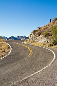 The Apache Trail is a 48 mile scenic drive through the mountains.  Only the first 1/2 of the drive is paved.