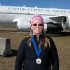 Donna finished Half Marathon. Photo by Claude