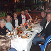 Roscoe's wife, Gwen, is on the left, then Kerry, Leslie Speigel, her son Ryan, husband Brad, then Michael Corrigan across the table and Dave.  Michael's friend Chris is in the far right.  He came as support person for Michael while Michael's wife was at home with the kids.