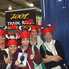 Ember (center lobster) and her support team were having a blast at the expo on Sunday afternoon.  No, she didn't wear her lobster hat for the race!