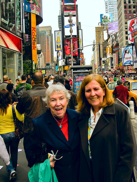 "Mom and Margie search Times Square for the ""Naked Cowboy"", but come up empty."