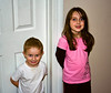 Cousins Mason and Madison line up like suspects.  What did they do???!!!???