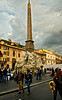 Another view of Bernini's Fountain of Four Rivers and Eqyptian obelisk in Piazza Navona.  Familiar tourists hidden in this photo.