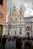 "As we approach the Piazza Navona, Sant'Agnese in Agone rises above Bernini's famous Fountain of Four Rivers.  The church is relatively new (1652) and sits on the spot where St. Agnes was martyred in the Circus of Domitian in 304.<br /> <br /> This from Wikipedia - ""The Prefect Sempronius wished Agnes to marry his son, and on Agnes' refusal he condemned her to death. As Roman law did not permit the execution of virgins, Sempronius had a naked Agnes dragged through the streets to a brothel. As she prayed, her hair grew and covered her body. It was also said that all of the men who attempted to rape her were immediately struck blind.""<br /> Dude!"