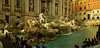 Panorama of the famous Trevi fountain