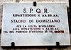 Plaque by the ruins of Circus Agonalis or the Circus of Domitian which saw it's share of martyrs (like Agnes).  I have a few shots of the ruins below the piazza here.