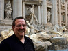 Another tourist at the Trevi Fountain