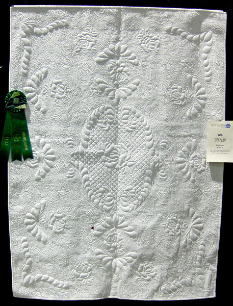 Honorable Mention<br /> There's a Bug on My Quilt<br /> Elaine Chord