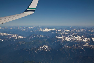 First views of the mountains from the airplane heading in to Seattle!