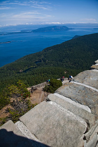 This is taken from the fire tower on the top of Mt. Constitution on Orcas Island...that's the main land in the background...