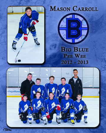 "Memory Mate<br /> or<br /> Memory Mate Plaque<br /> is a custom 8x10"" print with a 5x7""<br /> team photo and an individual photo.<br /> The print includes the player's name,<br /> team, logo and year."