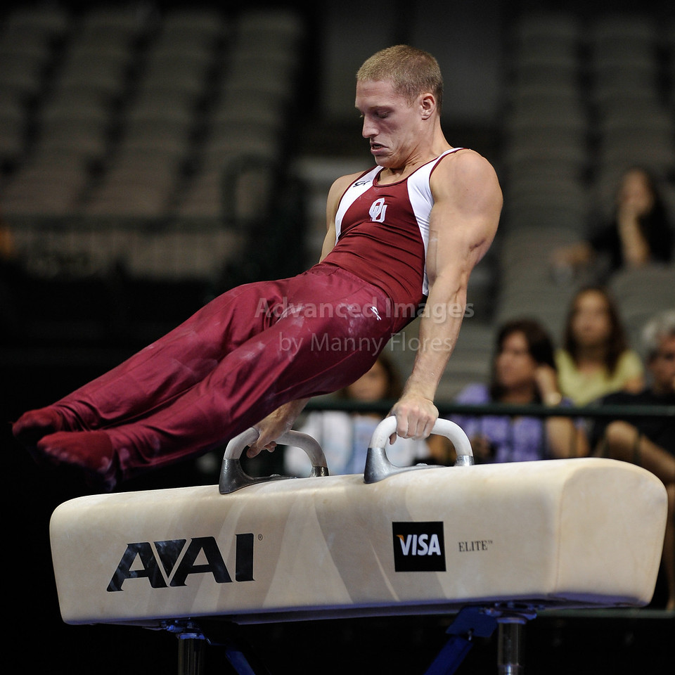 2009 Visa Championship:  Men Competition (Aug. 12th - 15th) <br /> #50 Steven Legendre of Univ of Oklahoma in action at the American Airlines Center in Dallas, Texas.