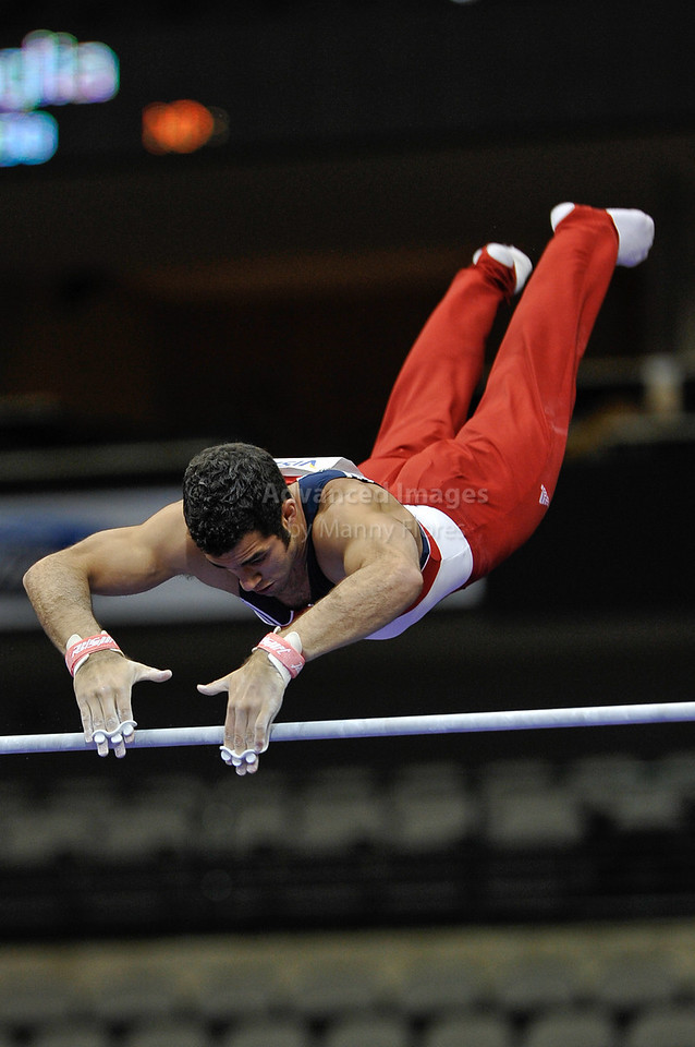 2009 Visa Championship:  Men Competition (Aug. 12th - 15th) <br /> #41 Danell Leyva of Universal in action at the American Airlines Center in Dallas, Texas.