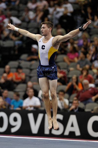 2009 Visa Championship:  Men Competition (Aug. 12th - 15th) <br /> #54 Tim McNeil of Cal Berkeley in action at the American Airlines Center in Dallas, Texas.