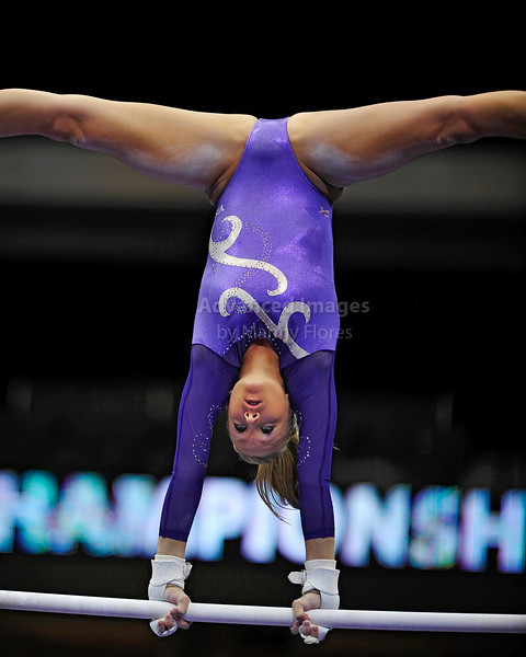 2009 Visa Championship:  Women's Competition (Aug. 12th - 15th) <br /> #146 Nastia Liukin of WOGA (2008 Olympic Gold Medalist) in action at the American Airlines Center in Dallas, Texas.