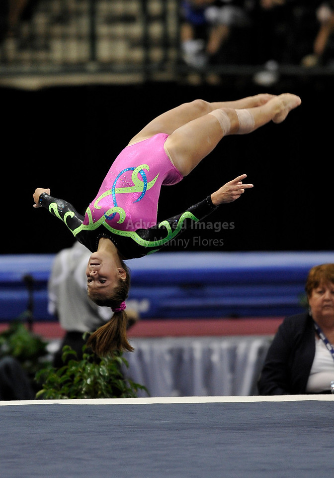 2009 Visa Championship:  Women's Competition (Aug. 12th - 15th) <br /> #135 MacKenzie Caquatto of Naperville in action at the American Airlines Center in Dallas, Texas.