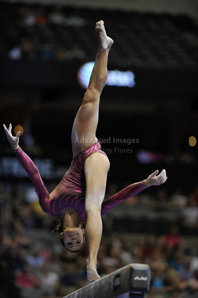 2009 Visa Championship:  Women's Competition (Aug. 12th - 15th) <br /> Ivana Hong of WOGA in action at the American Airlines Center in Dallas, Texas.