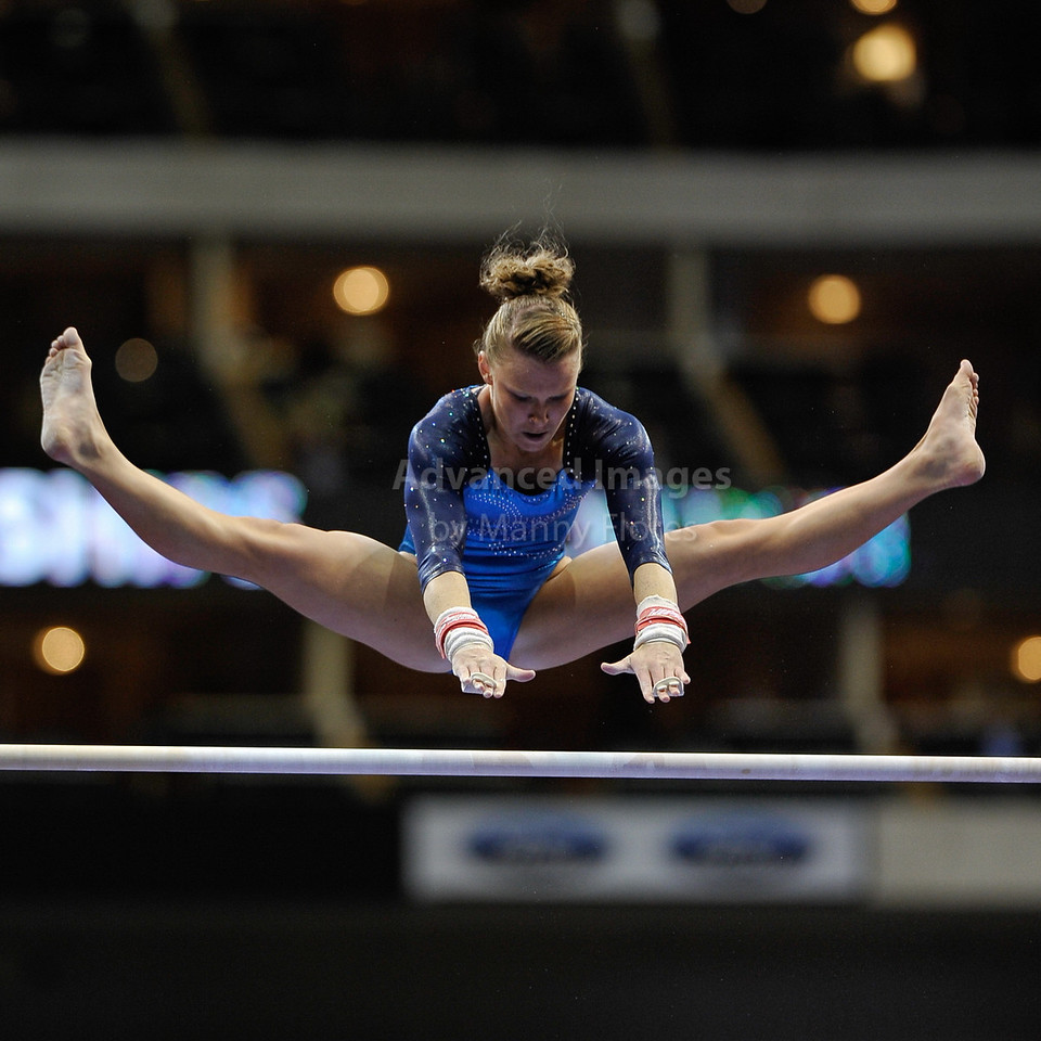 2009 Visa Championship:  Women's Competition (Aug. 12th - 15th) <br /> Bridget Sloan of Sharp's (2009 Visa All Around Champion) in action at the American Airlines Center in Dallas, Texas.