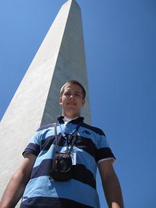 Brad Whitney at the Washington Monument.