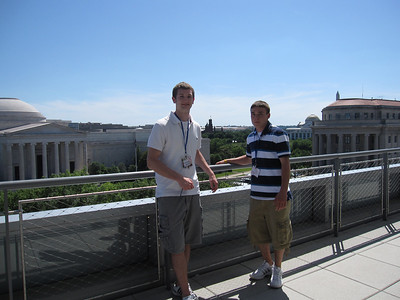 On the balcony at the Newseum.