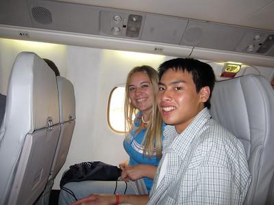 Heading to D.C. via Detroit.... Payton Lupu and Robert Garcia
