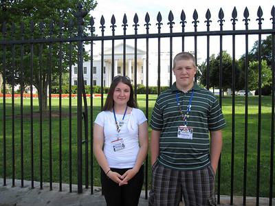 Kelsey Rogers and Dustin Parkhouse, of HomeWorks Tri-County Cooperative, at the White House.