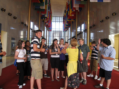 Inside the great hall at the Kennedy Center.