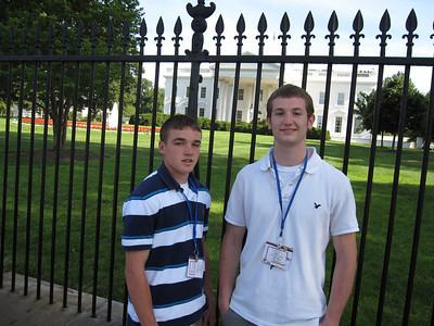 Tyler Anderson and Jared Ollis at the White House.