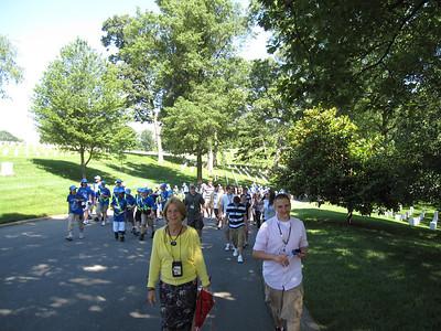Walking the hills in Arlington.