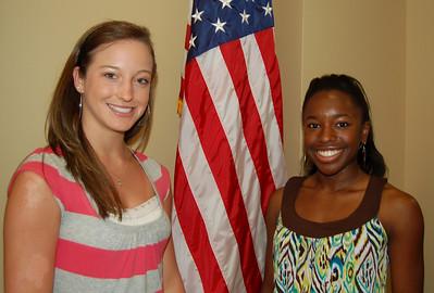 Lauren Looper, Destiny Johnson and Lander Hiott (not pictured) - Blue Ridge Electric Cooperative representatives.