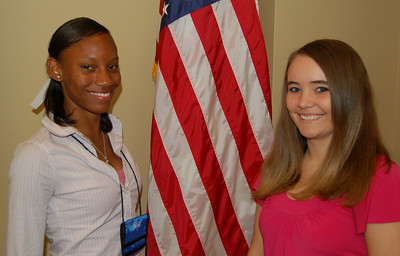 Jessica Hall, Kimberly Moore and Will Raines (not pictured) - Broad River Electric Cooperative representatives.