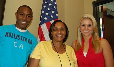 Jamel Roberts, chaperone Wanda DeLaine and Ali Rogers - Laurens Electric Cooperative representatives.
