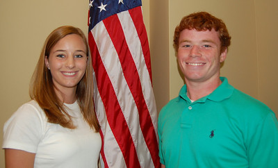 Ashlee Dent and Trey Watford - Tri-County Electric Cooperative respresentatives.