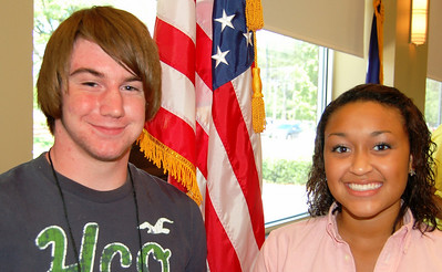 Trey Capps and Chelsea Evans - Horry Electric Cooperative representatives.