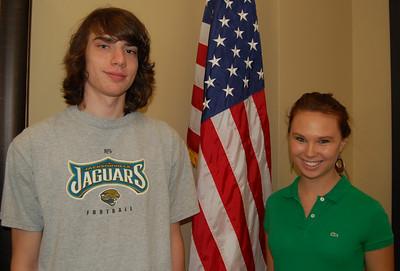 Weston Fleming and Emily Daniels - Mid-Carolina Electric Cooperative representatives.
