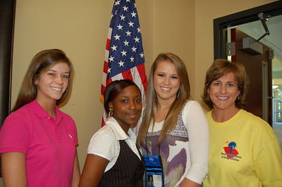 Allyson Rice, Ranesha Stuckey, Kendall Chapman with chaperone Page Chestnut - Pee Dee Electric Cooperative representatives.