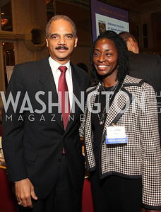 Eric Holder Jr, Rynthia Rost (Photo by Tony Powell)