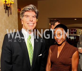 Tony Cord, Dominique Dawes (Photo by Tony Powell)