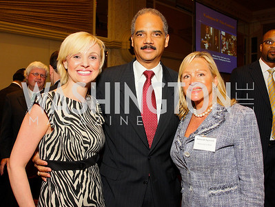 Deborah Sigmund, Andrea Rogers, Eric Holder Jr (Photo by Tony Powell)