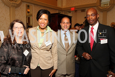 Samantha Nolan, Muriel Bowser, Brett Greene, James Key (Photo by Tony Powell)