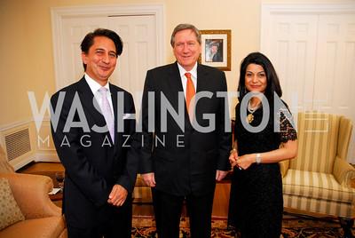 Amb. Said Jawad, Amb Richard Holbrooke, Shamin Jawad, Photo by Kyle Samperton