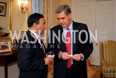 Amb Hussain Haqqani, Lt. Gen Douglas Lute, Photo by Kyle Samperton