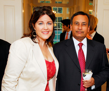 Rachel Pearson, Husain Haqqani, Photo by Kyle Samperton