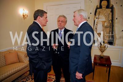 Amb Richard Holbrooke, Wolf Blitzer, Amb Michael Wilson, Photo by Kyle Samperton