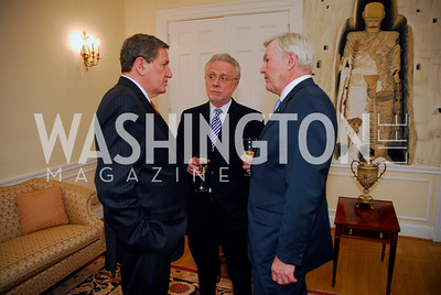 Amb Richard Holbrooke, Wolf Blitzer, Amb Michael Wilson, Photo by Kyle Samperton