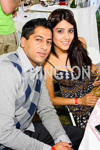 Kunal Shah, Neha Sharma. The Land Rover America's Polo Cup Fall Classic. September 19, 2009. photos by Tony Powell